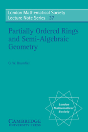 Partially Ordered Rings and Semi-Algebraic Geometry