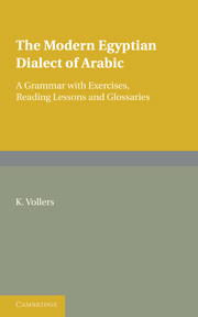 The Modern Egyptian Dialect of Arabic