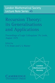 Recursion Theory, its Generalisations and Applications