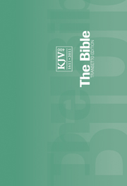 KJV Transetto Text Bible, Green