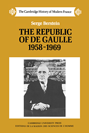 The Republic of de Gaulle 1958–1969