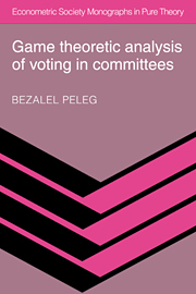 Game Theoretic Analysis of Voting in Committees