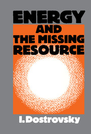 Energy and the Missing Resource