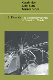 The Electrical Properties of Disordered Metals