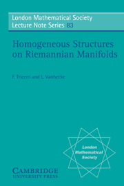 Homogeneous Structures on Riemannian Manifolds