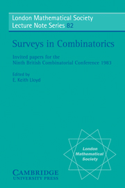 Surveys in Combinatorics