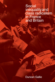 Social Inequality and Class Radicalism in France and Britain