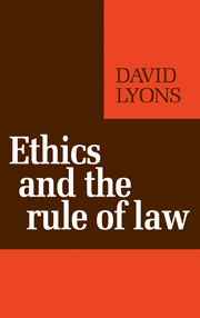 Ethics and the Rule of Law