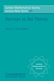 Surveys in Set Theory