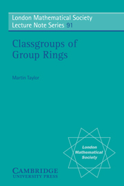 Classgroups of Group Rings