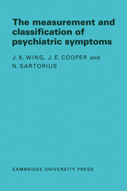 Measurement and Classification of Psychiatric Symptoms