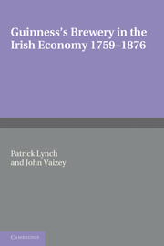 Guinness's Brewery in the Irish Economy 1759–1876