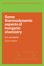 Some Thermodynamic Aspects of Inorganic Chemistry