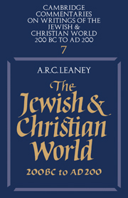 The Jewish and Christian World 200 BC to AD 200