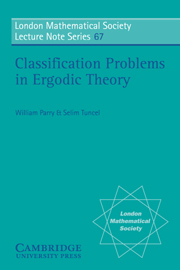 Classification Problems in Ergodic Theory