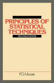 Principles of Statistical Techniques