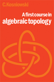 A First Course in Algebraic Topology