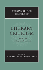 The Cambridge History of Literary Criticism