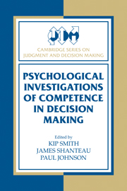 Cambridge Series on Judgment and Decision Making