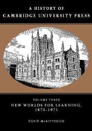 A History of Cambridge University Press