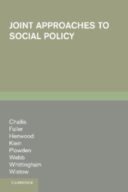 Joint Approaches to Social Policy