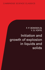Initiation and Growth of Explosion in Liquids and Solids