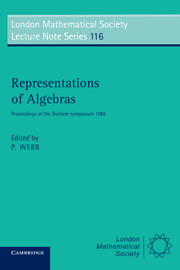 Representations of Algebras