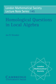 Homological Questions in Local Algebra