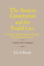 The Ancient Constitution and the Feudal Law
