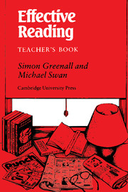 Effective Reading Teacher's book