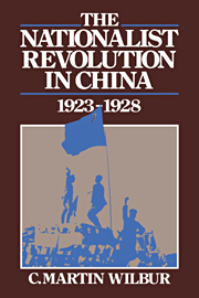 The Nationalist Revolution in China, 1923–1928