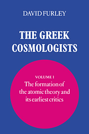 The Greek Cosmologists