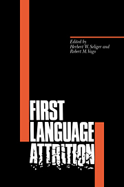 First Language Attrition