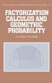 Factorization Calculus and Geometric Probability