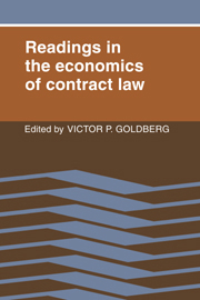 Readings in the Economics of Contract Law