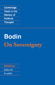 Bodin: On Sovereignty