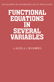Functional Equations in Several Variables