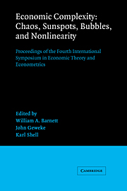 Economic Complexity: Chaos, Sunspots, Bubbles, and Nonlinearity
