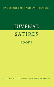 Juvenal: Satires Book I
