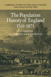 The Population History of England 1541–1871