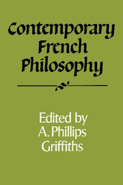 Contemporary French Philosophy
