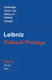 Leibniz: Political Writings