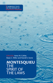 Montesquieu: The Spirit of the Laws