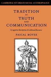 Tradition as Truth and Communication