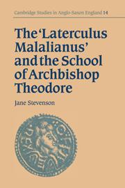 The 'Laterculus Malalianus' and the School of Archbishop Theodore