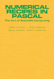 Numerical Recipes in Pascal (First Edition)