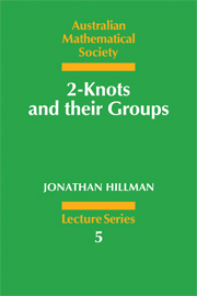 2-Knots and their Groups