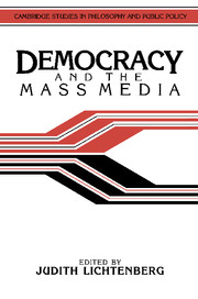 Democracy and the Mass Media