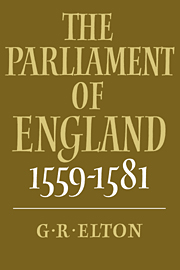 The Parliament of England, 1559–1581