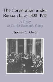 The Corporation under Russian Law, 1800–1917